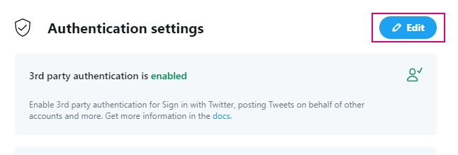 Twitter連携設定_Authentication settings